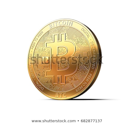 Bitcoin isolated on white.  stock photo © ppart