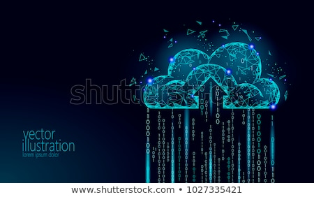 облаке сервер деловой человек прикасаться структуры серый Сток-фото © matteobragaglio