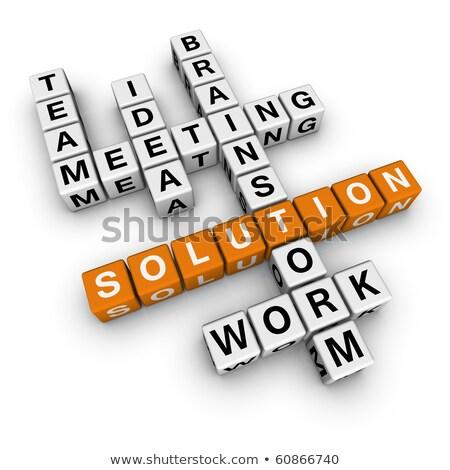 New Business Company 3d Crossword Foto stock © ALMAGAMI