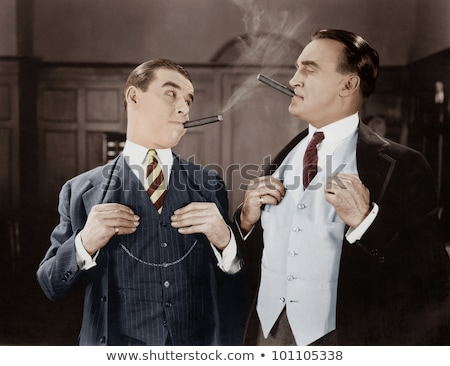 удовлетворенный человека курение лице далеко Сток-фото © Discovod