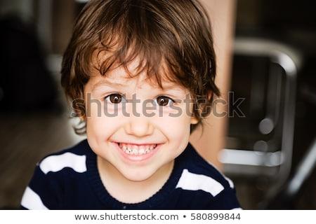 Portré vidám fiú gyermek festmény fiú rajz Stock fotó © zzve