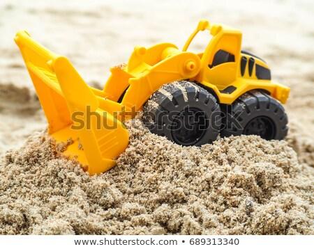 おもちゃ · トラック · ビーチ · 捨てられた · 日の出 · 水 - ストックフォト © ultrapro