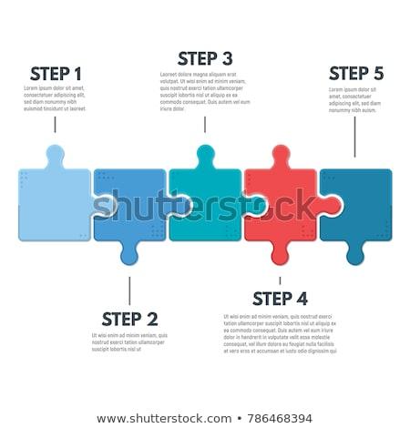 Peças do puzzle dados azul computador segurança serviço Foto stock © tashatuvango