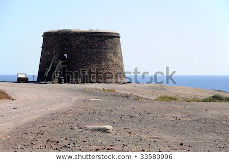 Torre del Toston castle in El Cotillo, Fuerteventura, Canary Isl Stock photo © nito