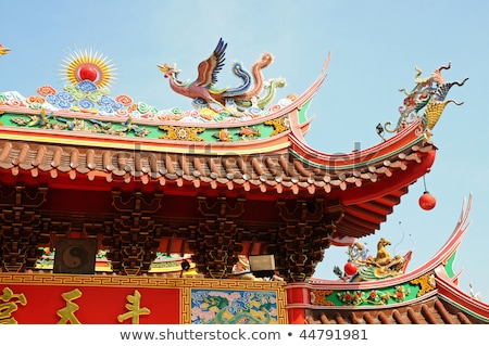 eaves of a chinese temple showing the intricate design Stock photo © leungchopan