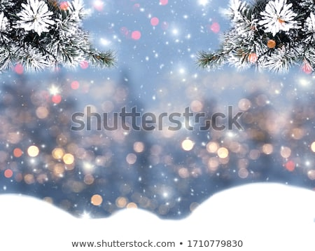Snowy Stars and Bokeh Christmas Background Stock photo © frannyanne