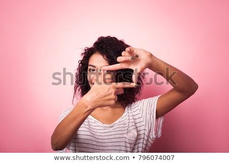 ręce · młodych · kobieta · czerwony · manicure - zdjęcia stock © feedough