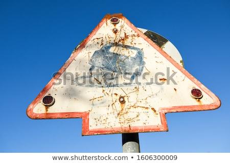 scivoloso · cartello · stradale · illustrazione · strada · neve · ghiaccio - foto d'archivio © latent