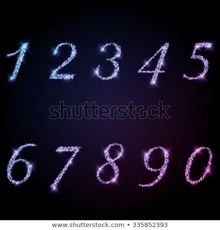Pompás gyémánt szám levél nyomtatott ékszerek Stock fotó © balasoiu