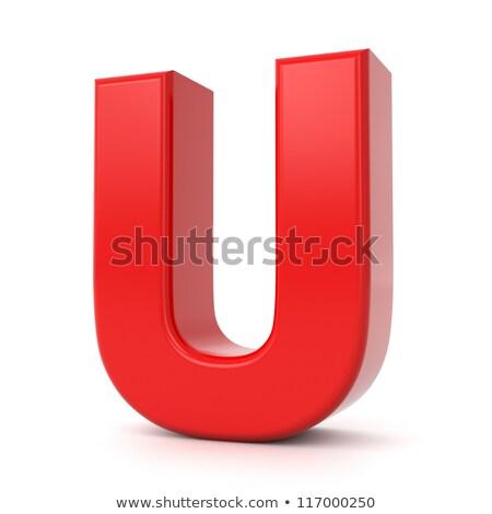Red 3D Letter U. Stock photo © tashatuvango