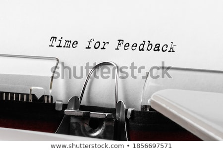 Time to Evaluate Typewriter  Stock photo © ivelin