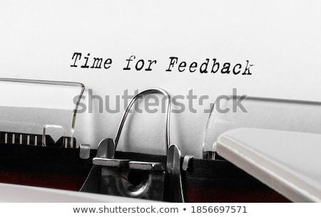 Stok fotoğraf: Time To Evaluate Typewriter
