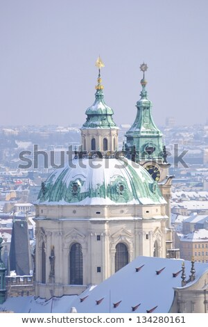 View of center of Prague from the grounds of Prague Castle Stock photo © Zhukow