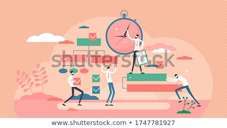 Prazo de entrega dígitos vidro quebrado tempo trabalho Foto stock © cosma