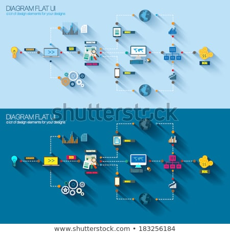 Stockfoto: Stijl · ui · iconen · business · project · marketing