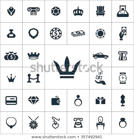diamantes · forma · icono · aislado · moda · signo - foto stock © redkoala