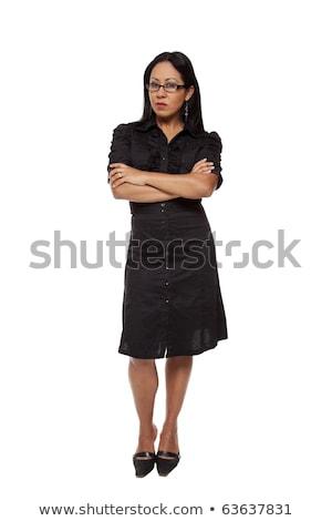 деловая женщина корма изолированный глядя камеры Сток-фото © dgilder