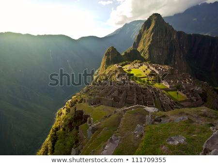 ストックフォト: マチュピチュ · 谷 · ペルー · 建物 · 市
