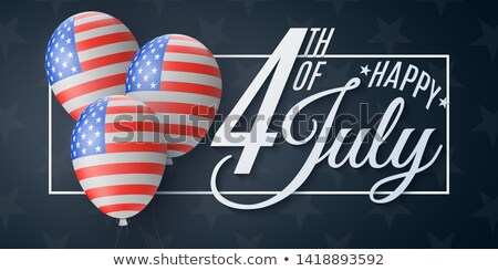 Gyönyörű negyedike Egyesült Államok Amerika brosúra sablon Stock fotó © bharat