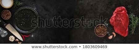 vers · ruw · rundvlees · foto · shot · keuken - stockfoto © jirkaejc