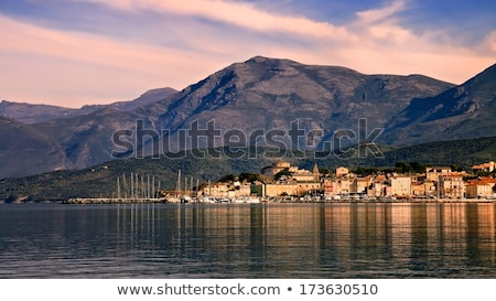 Port nord corse sombre nuages bateaux Photo stock © Joningall