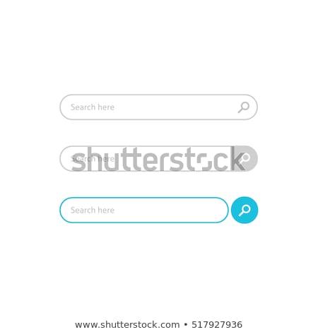 Keresés gomb egy ujj kisajtolás keresőmotor Stock fotó © olivier_le_moal