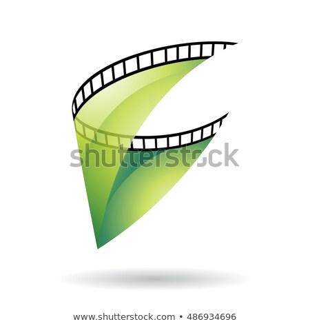 Film Reel икона зеленый прозрачный изолированный белый Сток-фото © cidepix