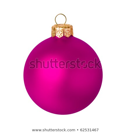 red dull christmas ball and christmas ornaments in background stock photo © Rob_Stark