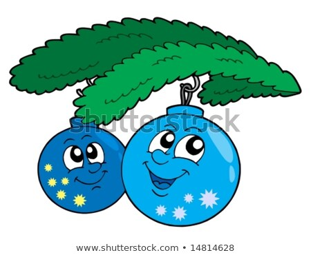 two straw stars and christmas ball with branch stock photo © Rob_Stark