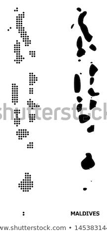 Kaart Maldiven patroon vector afbeelding Stockfoto © Istanbul2009