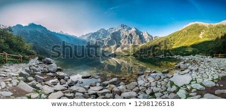 Panorama montanhas natureza paisagem rocha lago Foto stock © pixelman