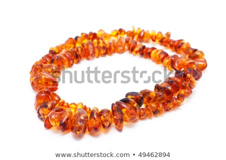 Beads. Isolated on a white background. A shade below. Stock photo © borysshevchuk