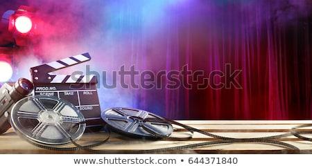 film · csíkok · háttér · televízió · ipar · mozi - stock fotó © tawng