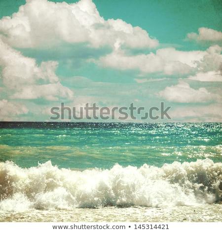 Deniz fırtınalı manzara bağbozumu retro tarzı güzel Stok fotoğraf © Mikko