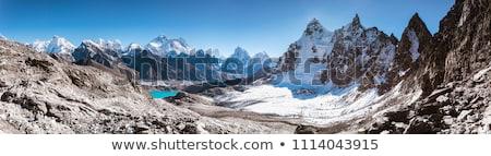 Himalaia paisagem Nepal himalaia montanhas nuvens Foto stock © blasbike
