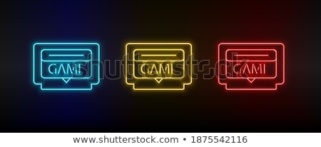 electronic equipment square vector yellow icon design set stock photo © rizwanali3d