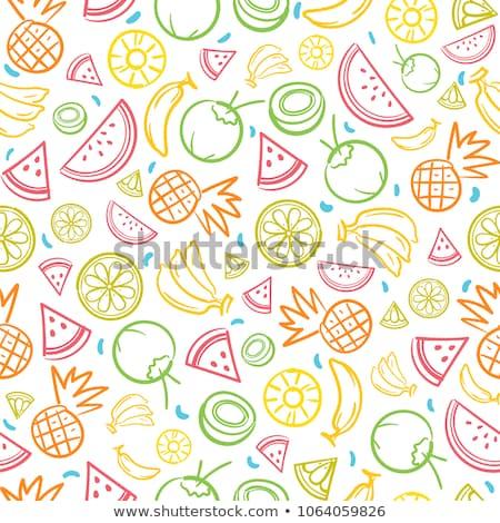 sliced fruits background stock photo © art9858