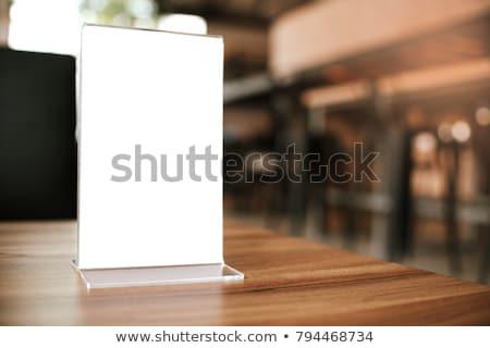 Menu holder Stock photo © magraphics