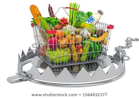 Shopping basket in bear trap Stock photo © cherezoff