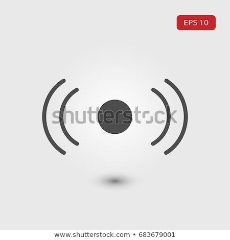 Rádió jel piros vektor ikon terv Stock fotó © rizwanali3d