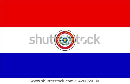Köztársaság Paraguay kicsi 3d ember tart zászló Stock fotó © Istanbul2009