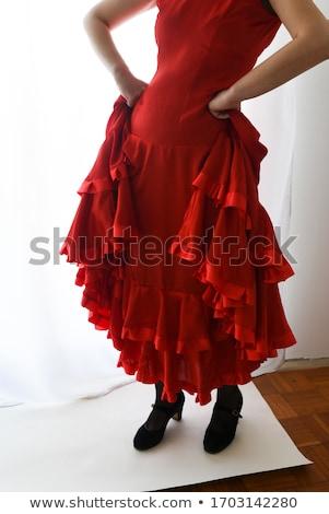 kezek · részlet · flamenco · táncos · gyönyörű · ruha - stock fotó © nenetus