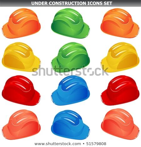 Helmet Green Vector Icon Design Stock photo © rizwanali3d