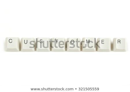 Vásárló billentyűzet kulcsok fehér szöveg izolált Stock fotó © artush