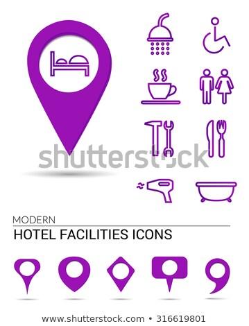 Wheel Chair Pink Vector Button Icon Stock photo © rizwanali3d
