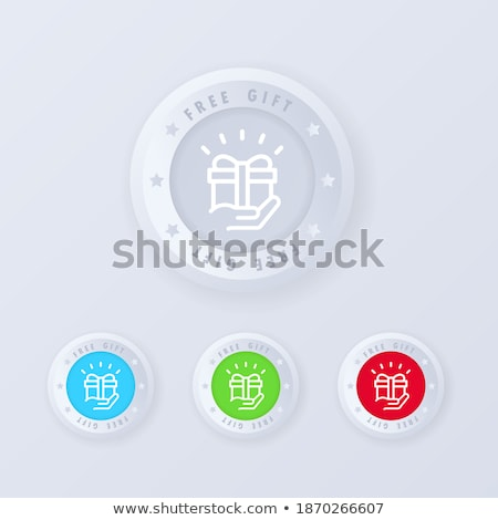 Bónusz piros vektor ikon gomb internet Stock fotó © rizwanali3d