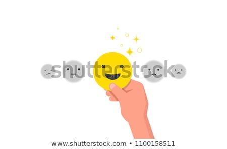 Vásárlói elégedettség citromsárga vektor ikon terv digitális Stock fotó © rizwanali3d