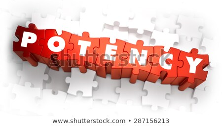 Potency - White Word on Red Puzzles. Stock photo © tashatuvango