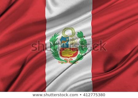 Egyesült Királyság Peru zászlók puzzle izolált fehér Stock fotó © Istanbul2009