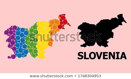 Slovénie gay carte pays fierté pavillon Photo stock © tony4urban